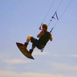 Boosting while kiteboarding