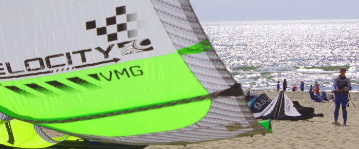 Steve ready to ride with the 2014 Cabrinha Velocity kite