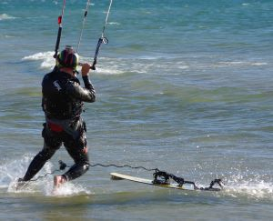 Using a kiteboard leash can unpredictably slingshot your board back at you