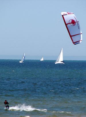 sailing and kiteboarding