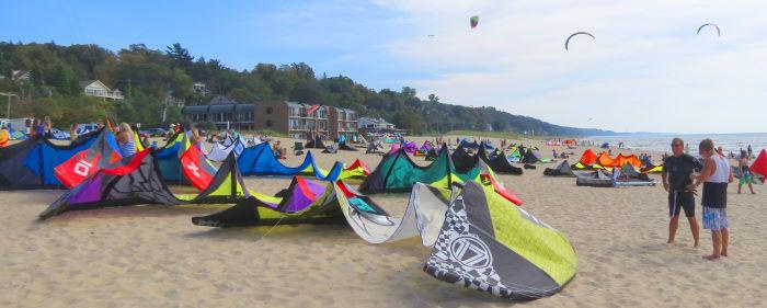 kiteboarding gear at the 2013 KoGL Test Fest