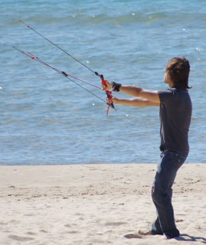 flying a 3-line trainer kite