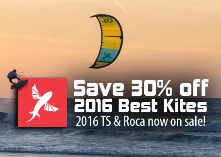 Save 30% off 2016 Roca & TS from Best Kiteboarding!