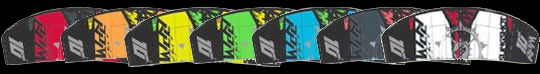2012 Slingshot RPM kite colors