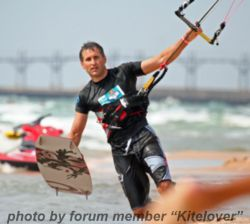 Brad Knoth out kite surfing