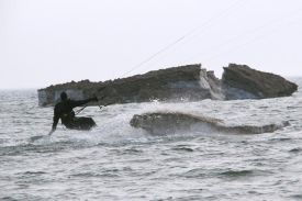 kitesurfing when there are icebergs in Lake Mighigan?