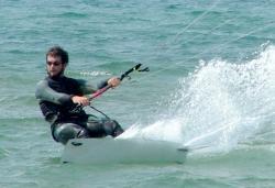 Marc Hoeksema kiteboarding