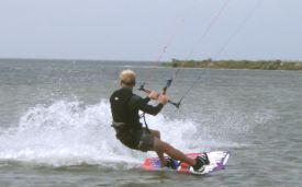 kite surfing miles of flat water