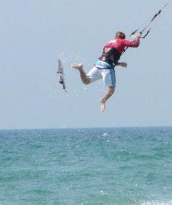 kick your kiteboard away