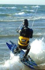 James Otis kiteboards Lake Michigan in January
