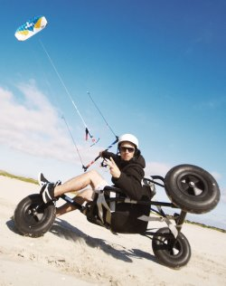 Power kiting with a buggy