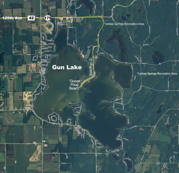 Gun Lake Aerial Map