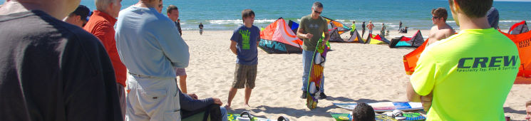 Reviews of kiteboarding equipment
