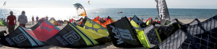 Kiteboarding kite sizes