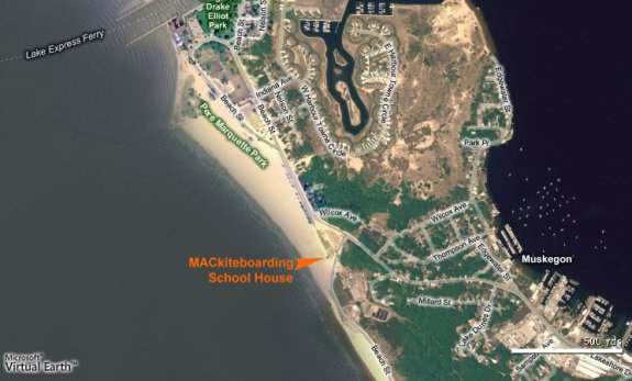 Aerial view of the Kiteboarding School House