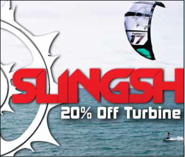 20 Percent Off Slingshot Turbines!