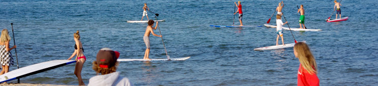 Stand Up Paddleboarding at the beach