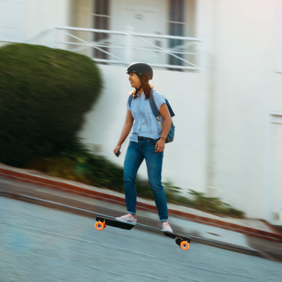 Climb hills with the Boosted Plus Electric Skateboard