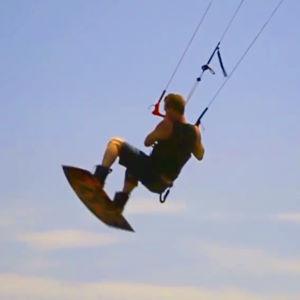 Boosting while kiteboarding