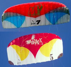 aspect ratio comparision on foil kites
