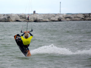 butter or nose slide kiteboarding trick