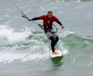 Kite surfing riding style