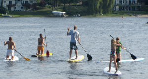 Stand Up Paddleboarding on your knees