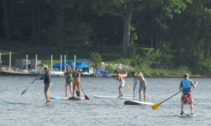 Stand Up Paddleboarding - standing up